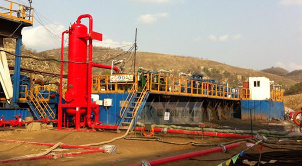 山東油田鉆井用戶液氣分離器管線設置方案