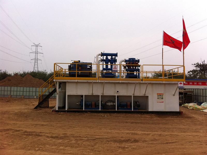 西安恒聯非開挖泥漿凈化系統客戶使用案例